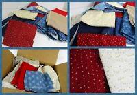 3  Pounds LOT  Vintage Cotton Print Fabric Scraps Quilt Repair Remnants