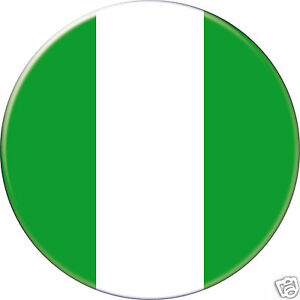 NIGÉRIA NIGERIA DRAPEAU FLAG PAYS COUNTRY Ø25MM PIN BADGE BUTTON