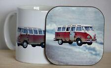 Camper van Mug and Coaster Set