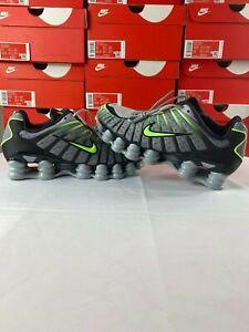 Nike Shox TL Speed Wolf Grey Black Volt Running Shoes AV3595-005