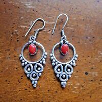 Details about  /Stone Inlay /& MOP Handmade Earrings Women Artisans Made Mexico Fair Trade e2018