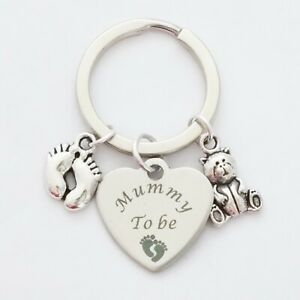 """""""Mummy to be"""" Parent to be - Baby Announcement - Keepsake - Keyring"""