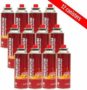 Butane Fuel Canisters for Portable Camping Stoves,Gas Burners, UL Listed (12pk)