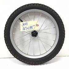 "Complete 16"" Front Gray Bicycle Wheel w/ 1.95"" Tire - Mini-BMX Bike #k41"