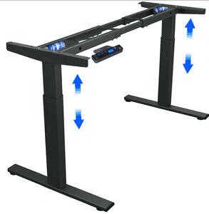 Electric Desk/Height Classics Dual Motors Adjustable Sit Stand Workstation Frame