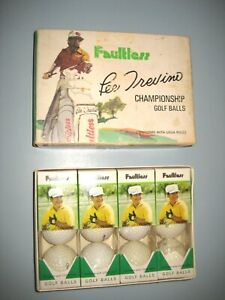 NEW In Box LEE TREVINO Faultless Golf Balls 4 Packages 12 balls Vintage
