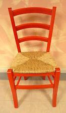 Chaise bois massif pour cuisine salle à manger bar moderne siège paille