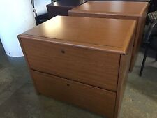 """2Dr 36""""W LATERAL FILE CABINET by KIMBALL OFFICE FURN in CHERRY LAMINATE"""