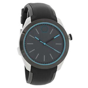 Movado Bold Motion Mens Black Silicone Strap Smart Watch 3660001