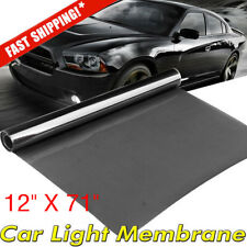 "12""*71"" Light Black Car Smoke Headlight Taillight Fog Light Tint Film Vinyl Wrap"