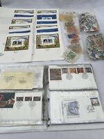 Large Collection Of Vintage Worldwide Stamps And First Day Covers, Stamps Bundle