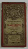 1911 Old Antique OS Ordnance Survey One-Inch Third Edition Map 117 Maidstone