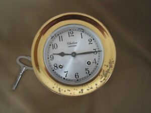 VINTAGE CHELSEA  SHIPSTRIKE 8 DAY MARITIME SHIPS CLOCK GOOD WORKING CONDITION