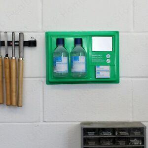 500ml Eyewash Station Panel. Wall Mountable with Mirror & Eye Dressings. Refills