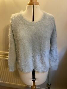 ASOS Petite lounge jumper cold shoulder grey round neck blouse top UK12 EU40 US8