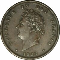 1826 Great Britain Penny -KM693 - Nice XF - Better Date Collector Coin! -d70qcut