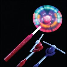 Swivel Fan Wand - LED Sensory Toys Rainbow Windmill Light Flashing Autism Child