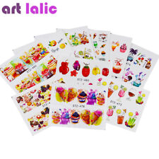 18 Nail art  Water Transfer Stickers Colorful Fruit Cake Candy Food Party Decor