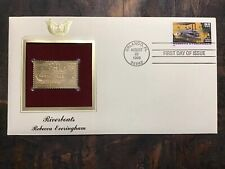 1996 First Day Issue Stamp. Riverboats-Rebecca Everingham. Gold Edition.