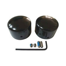 Black Front Axle Nut Covers for 2008-Up Touring, Dyna, Sportster Softail
