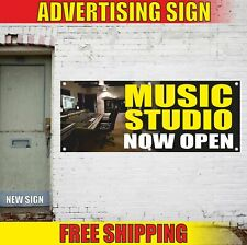 Music Studio Now Open Advertising Banner Vinyl Mesh Decal Sign Film Tv Radio New
