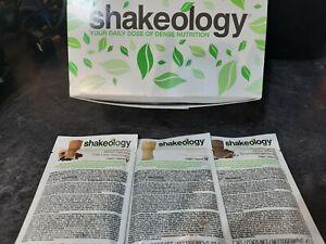 Vegan Shakeology Vanilla, Chocolate and Caffe Latte Single Serve Sachets