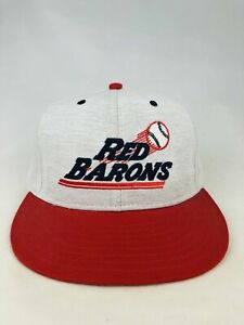 SCRANTON WILKES-BARRE RED BARONS VINTAGE 1990'S NEW ERA FITTED ADULT HAT 6 3/4