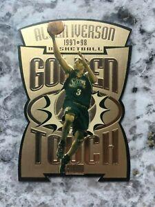 Allen Iverson 1997-98 Skybox Premium Golden Touch #2 Die Cut Insert RARE