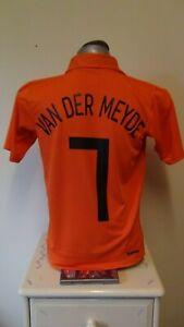 Holland Home Football Shirt Jersey 2006-2007 VAN DER MEYDE 7 Small
