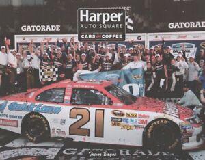 2021 Trevor Bayne Harper Cars & Coffee Ford Fusion NASCAR postcard