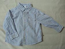 Chemise Okaïdi blanche à rayures bleues et rouge pour garçons, taille 23 mois