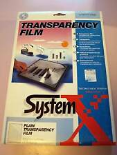 Rank Xerox Plain Transparency Film A4 25 SHEETS LASER/Copier NEW incl. Vat