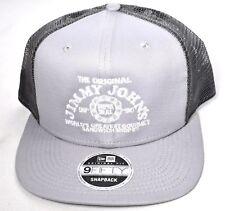 JIMMY JOHN'S New Era Gray Mesh Snapback Hat/Cap 9Fifty Adjustable >NEW<