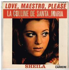 """SHEILA   love, maesto please    avec RARE sticker la colline..  7""""  45 tours EP"""