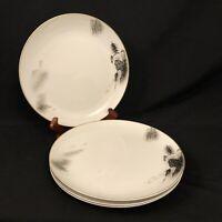 "4 Fukagawa 10"" Dinner Plates Arita #903 Hand Painted Japan Pagoda Landscape"