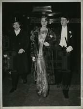 1933 Press Photo New YorkGravan Cavanaugh, Adelaid Moffett at Horse Show NYC