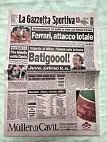 GAZZETTA DELLO SPORT 27 SETTEMBRE 1998 MILAN-FIORENTINA 1-3 TRIPLETTA BATISTUTA