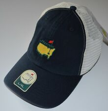 2018 MASTERS (NAVY/WHITE) Trucker FITTED (L/XL) Golf HAT from AUGUSTA NATIONAL