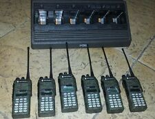 Lot 6 Motorola HT1250 UHF 403-470 TWO WAY RADIOS Mint, gang charger,