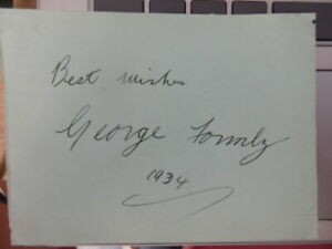 GEORGE  FORMBY  -  ACTOR /  SINGER      -  AUTOGRAPH