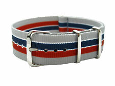 HNS ZULU MoD G10 20mm Double Graphic Navy & Red Stripe Fashion Nylon Watch Strap