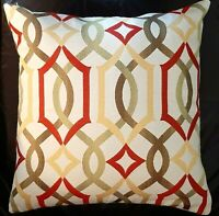 Pillow Covers Geometrical Red Green -  Decorative Designer Accent Throw Pillow