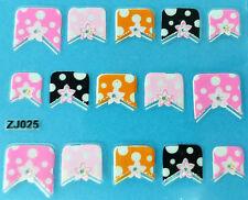 Nail art manucure 15 stickers bijoux d'ongles: étoiles et petits pois design