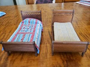 Vintage Lynnfield Dollhouse Furniture~ Beds!