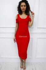 Vestiti da donna rossa lunghezza al ginocchio, taglia 42