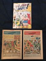 JUSTICE LEAGUE OF AMERICA Silver Age Lot of 3 Comics: #3, #5, #7: Readers lot