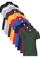 Womens Womans Ladies Lady Fit 65/35 Polycotton Pique Polo Shirt XS-XXL