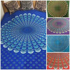 Indian Mandala Single Bedspread Throw Wall-Hanging – Boho Ethnic Nomads Wales