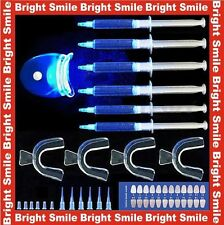 Kit de Blanqueamiento de Dientes 6 X 3cc jeringas + 4 dientes Moldes + bolígrafo de gel + luz láser