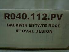 "Baldwin Reserve Privacy Decorative Oval 5.5"" Estate Rosette - Venetian Bronze"